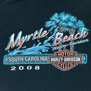 Harley-Davidson Men's Large Myrtle Beach Pocket T
